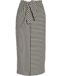 Ren striped cotton blend jersey skirt medium 322403