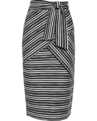 Striped cotton blend midi skirt medium 790902