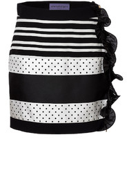 Ungaro Emanuel Striped Skirt With Ruffle Trim