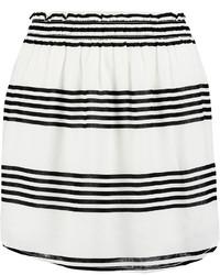 Vix Striped Crepe Skirt