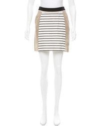 Derek Lam Striped Mini Skirt
