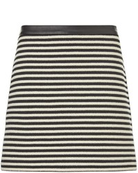 Alexander Wang T By Black Twisted Stripe Mini Skirt