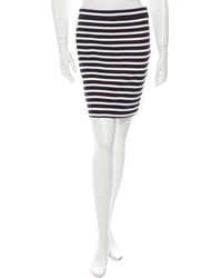 Alexander Wang T By Striped Mini Skirt