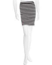 Alexander Wang T By Striped Mini Skirt W Tags