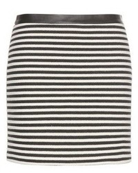 Alexander Wang T By Twisted Stripe Knitted Miniskirt