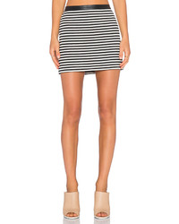 Alexander Wang T By Twisted Stripe Mini Skirt