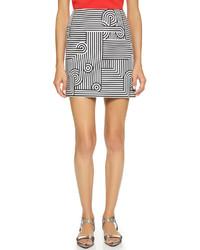 Victoria Beckham Victoria Graphic Stripe Miniskirt