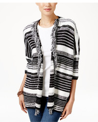 Tommy Hilfiger Ava Striped Fringe Cardigan