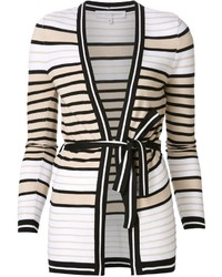 Carolina Herrera Striped Wrap Cardigan