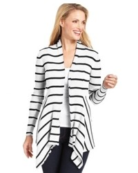 Elementz Striped Ribbed Knit Cardigan