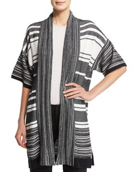 Vince Multi Stripe Open Cardigan