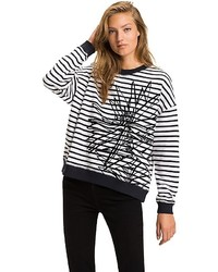Tommy Hilfiger Floral Striped Sweatshirt