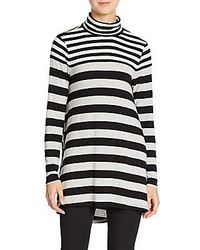 Mixed stripe turtleneck top medium 386311