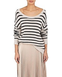A.L.C. Rowan Striped Cotton Blend Sweater