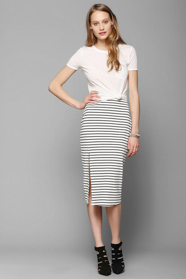 BDG Stripe Fitted Midi Skirt | Where to buy & how to wear