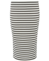 Dorothy Perkins Black And White Stripe Pencil Skirt