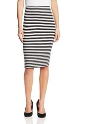 Cayleen striped ponte pencil skirt medium 87049