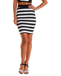 Charlotte Russe Striped Bodycon Pencil Skirt