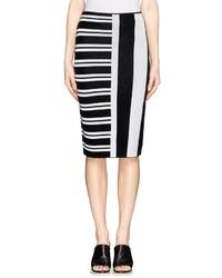 Theory Efersten Combo Stripe Knit Pencil Skirt