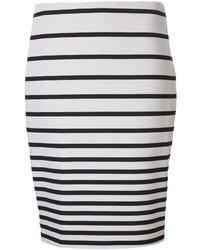 Halston Heritage Striped Skirt