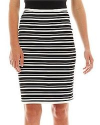jcpenney I Heart Ronson Striped Knit Pencil Skirt