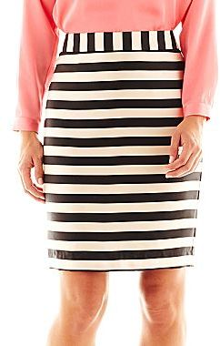 e2befe94d9b ... White and Black Horizontal Striped Pencil Skirts jcpenney Worthington  Fashion Pencil Skirt ...