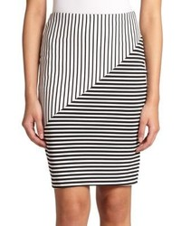 Rebecca Minkoff Jill Mixed Stripe Pencil Skirt