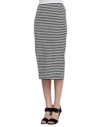 Lafayette 148 New York Long Striped Pencil Skirt