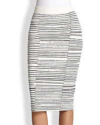Lyons striped stretch knit pencil skirt medium 87048
