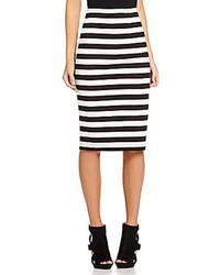 Takara Midi Striped Pencil Skirt