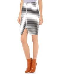 Nicholas stripe zip pencil skirt medium 87050