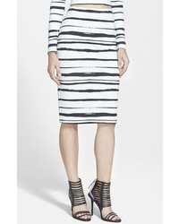 WAYF Stripe Pencil Skirt