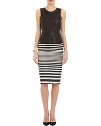 J. Mendel Striped Pencil Skirt