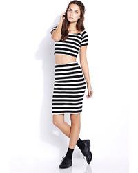 Forever 21 Sweet Stripes Pencil Skirt