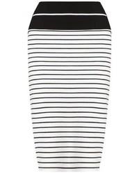 Tanya Taylor Monochrome Stripe Peggy Skirt