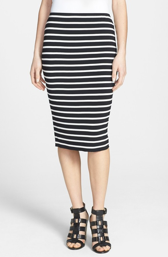Vince Camuto Retro Stripes Midi Tube Skirt | Where to buy & how to ...