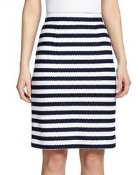 Diane von Furstenberg Walda Striped Cotton Pencil Skirt