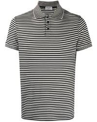 Saint Laurent Horizontal Stripe Short Sleeve Polo Shirt