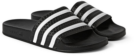 ... adidas Originals Adilette Textured Rubber Slides ...