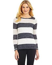 Cremieux jennie sequined striped top medium 208496