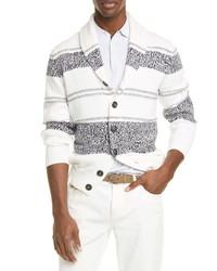 Brunello Cucinelli Stripe Cotton Cardigan