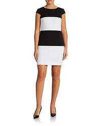 Andrew marc striped shift dress medium 240484