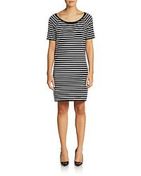 Michael kors striped cotton shift dress medium 221516