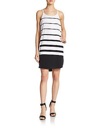 Striped hi lo shift dress medium 240483