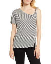 Habitual Jules Asymmetrical Stripe Top