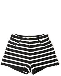 ChicNova Black And White Stripes Shorts