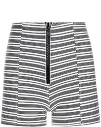 Black striped fitted active shorts medium 1252251