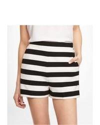 Express 2 12 Inch High Rise Striped Shorts Black 00