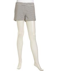 Pia ridged stripe relaxed shorts blackwhite medium 90456