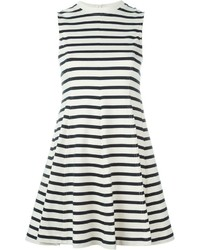 Alexander Wang T By Striped Skater Dress